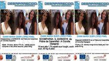 Carteles de búsqueda distribuidos en Portugal, Italia y Francia