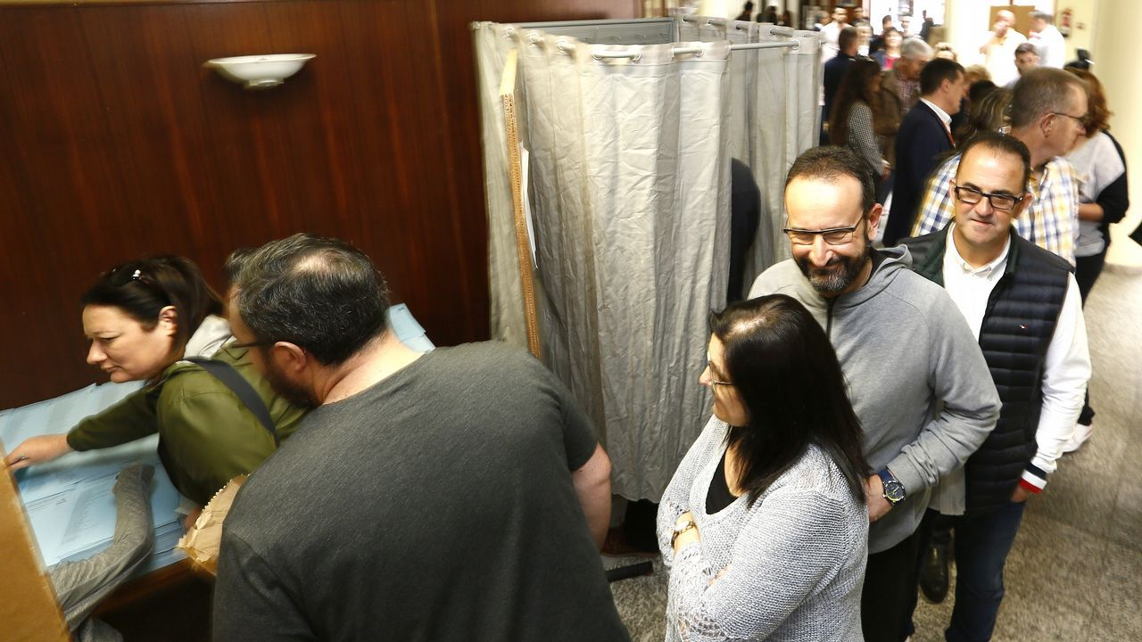 Preparativos alfombras Burela