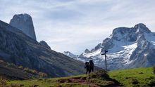 Paisajes de los Picos de Europa en el camino al refugio de la Terenosa