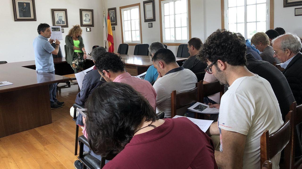 La autovía de Santiago a Lavacolla clama por una reforma.Gelo preside la mesa de edad de la Diputación