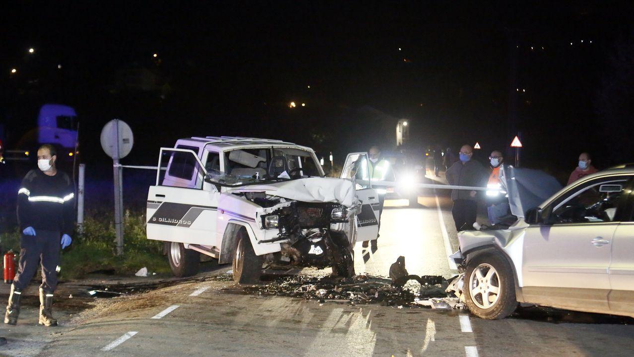 Así quedaron los vehículos tras la colisión