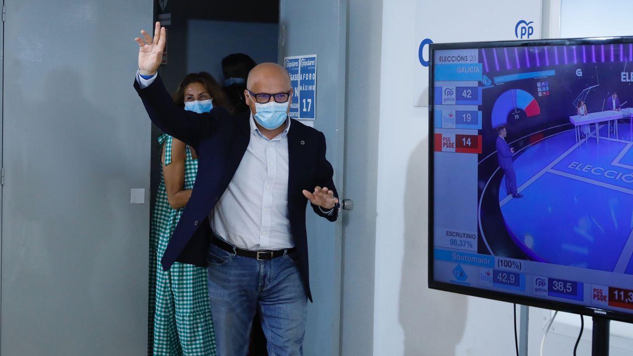 José Manuel Baltar valora los resultados electorales.El secretario general del PP, Teodoro García Egea, durante su valoración del 12J