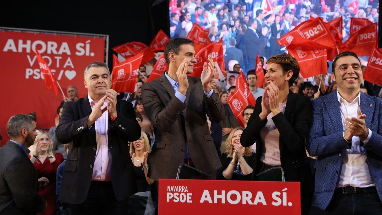 El presidente del Gobierno en funciones y candidato a la reelección, Pedro Sánchez, ha acusado este viernes a las derechas de estar  traicionando la foralidad  de Navarra con discursos  de ira y falsedad