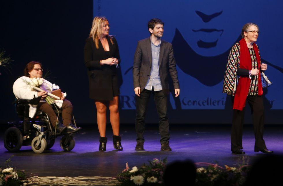 «Cuando se disolvieron las Cortes lloré muchísimo».De izquierda a derecha, Morado, Sestayo, Suárez y Alabau, en la entrega de los premios.