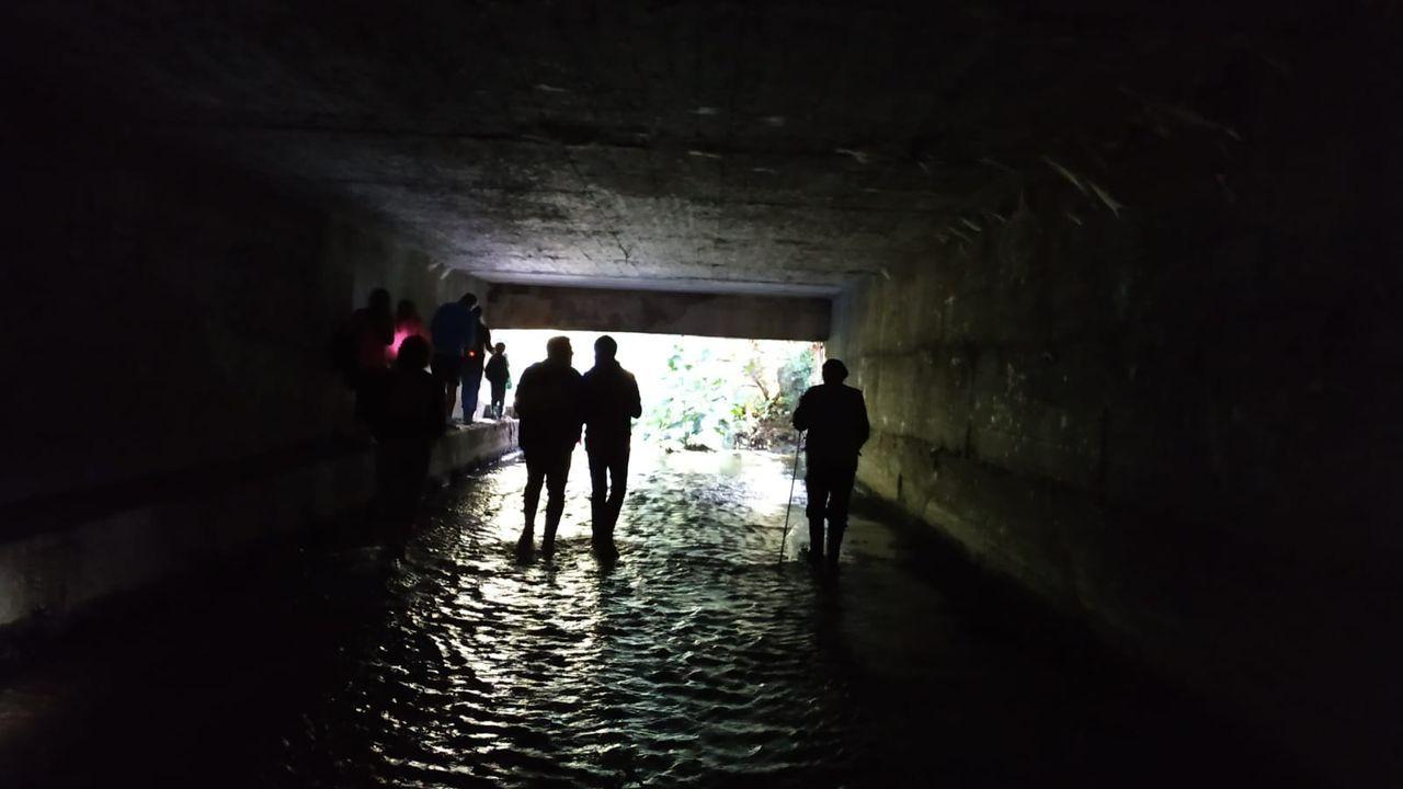 Paseo por el tramo cubierto del Gafos