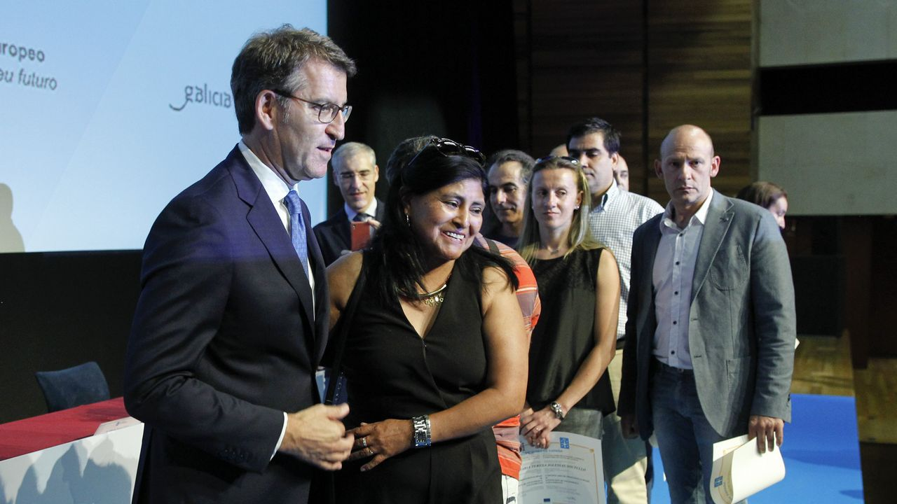 Alberto Núñez Feijóo participó en Santiago en un acto de entrega de certificados de experiencia profesional