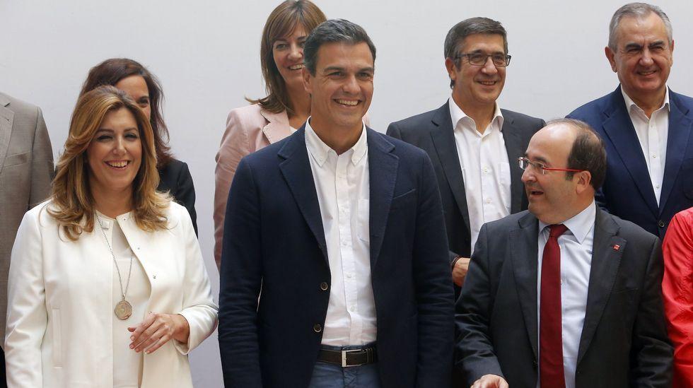 Diecisiete críticos del PSOE presentan sus dimisiones de la Ejecutiva Federal.Dolores Galovart, Guillermo Meijón, Rocío de Frutos, Ricardo García Mira, Margarita Pérez y Pilar Cancela