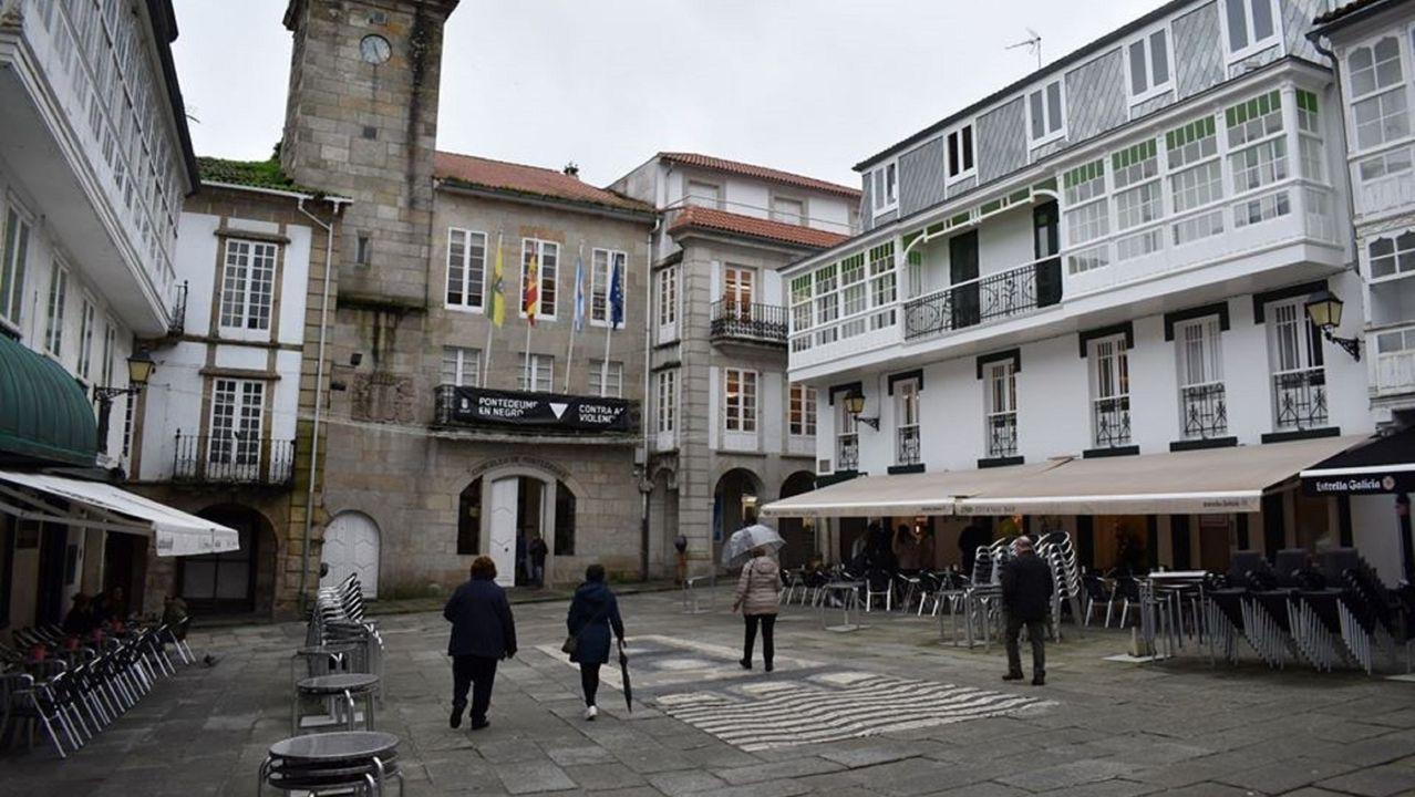 Principales propiedades del Estado en Galicia. El presidente del gobierno, Pedro Sánchez), y el vicepresidente segundo, Pablo Iglesias, en la presentaciòn de los Presupuestos