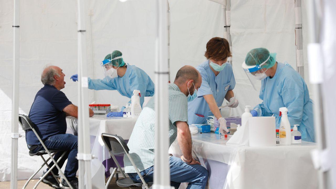 Carpas donde se realizan las pruebas en Ordizia