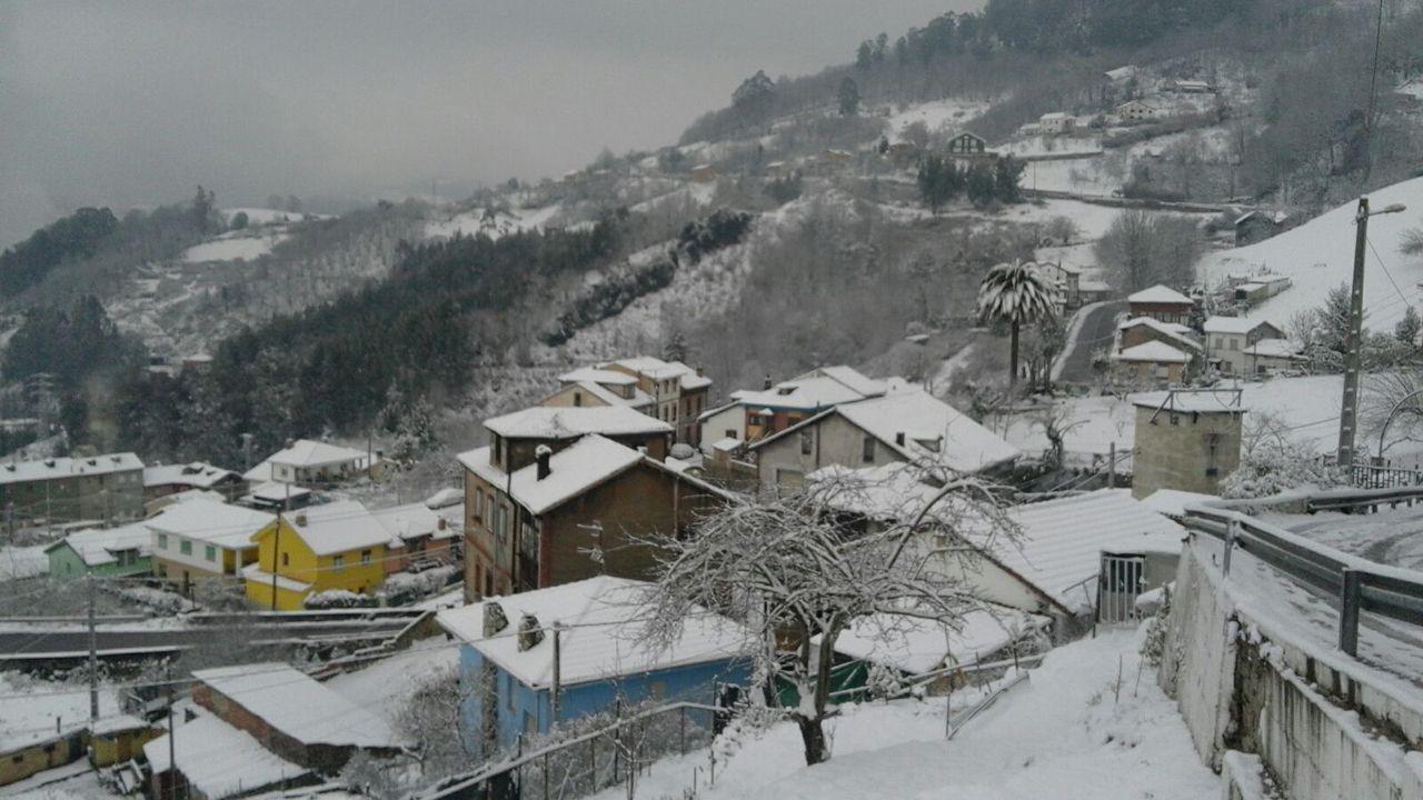 Nieve en Oviedo.Mieres