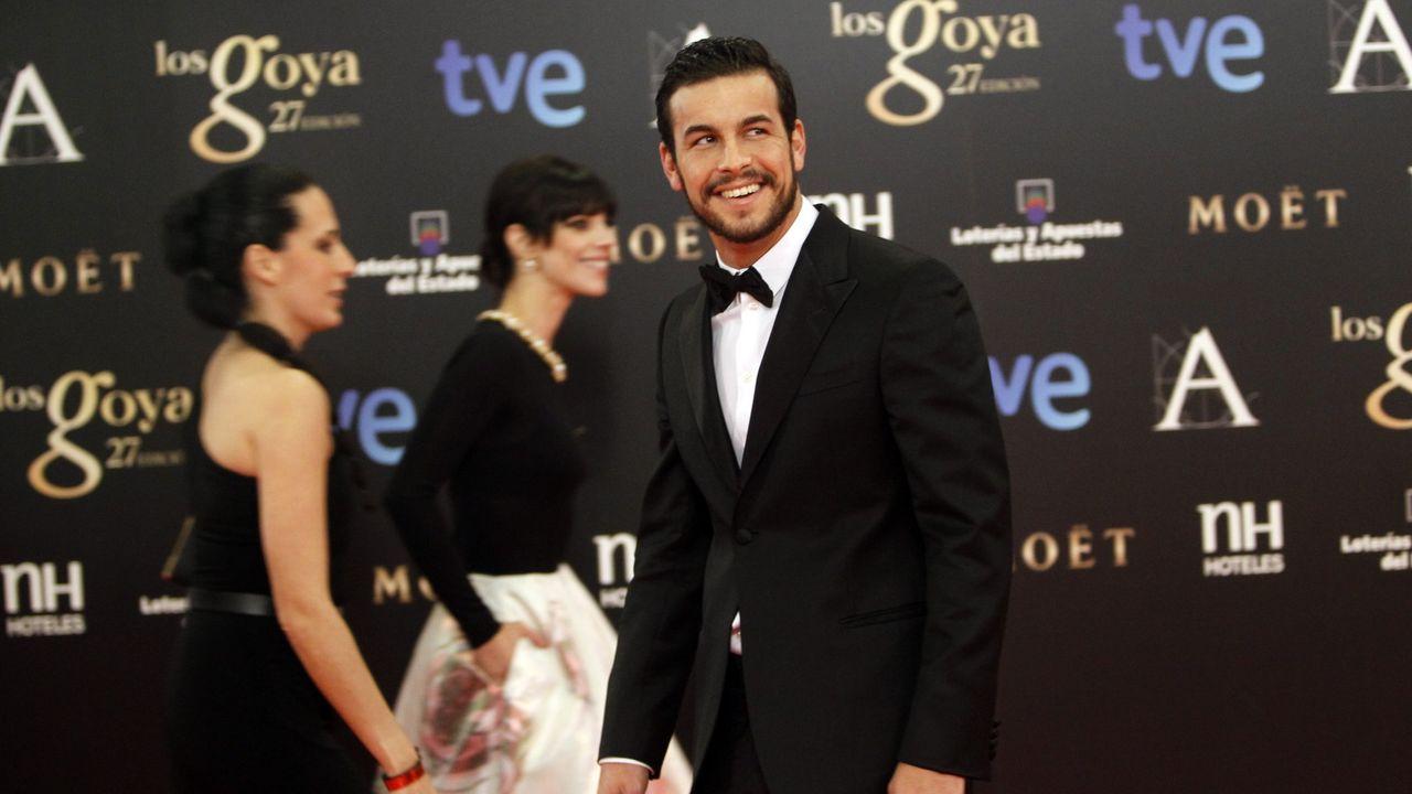cine.Abraham López con su permio Goya