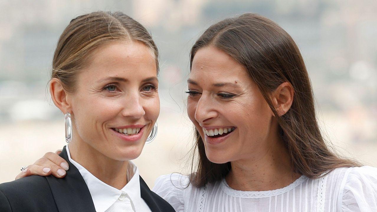 Novotny (izquierda) y la actriz Pia Tjelta, en San Sebastián
