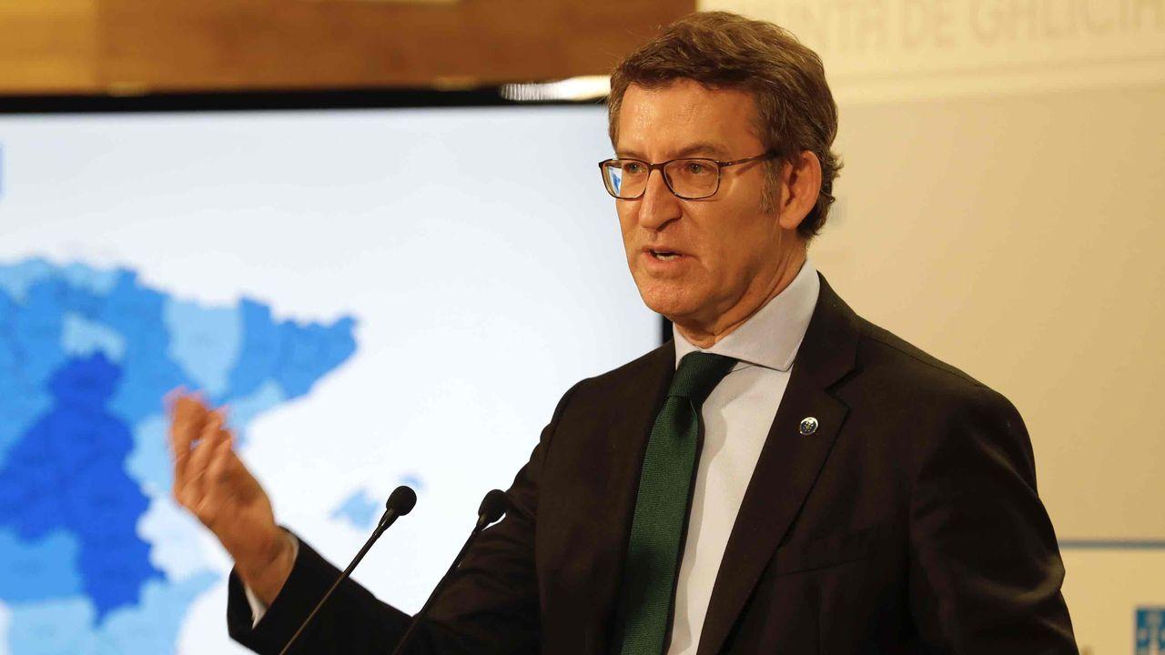 En directo: Feijoo explica los cambios en las restricciones en Galicia.Cribado en el campos de Lugo