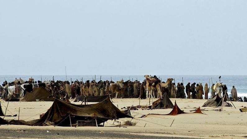 Continúan las tareas de búsqueda.Momentos del rodaje de «Exodus» en Fuerteventura