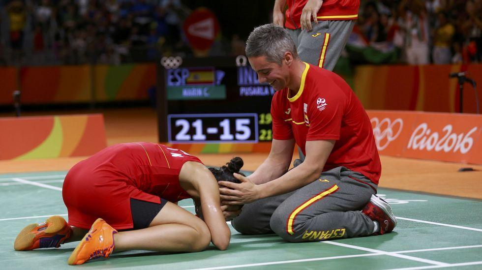 El España-Estados Unidos, en fotos.Isaquias, a la derecha, junto a Erlon de Souza en el podio.