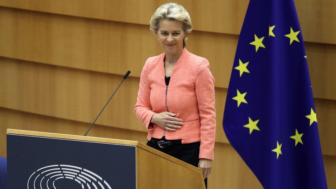 Von der Leyen, durante su primer discurso de la Unión en la Eurocámara