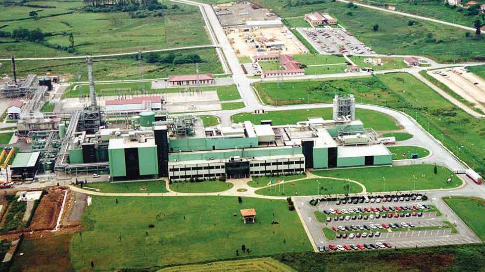 La planta de DuPont en Asturias