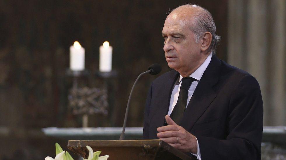 Fernández Díaz, durante su intervención.