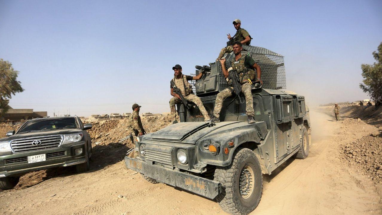 El abarrote de las Festas do Mar de Malpica se supera cada año.El ejército iraquí avanza hacia el centro de la ciudad de Tal Afar, Mosul (Irak)