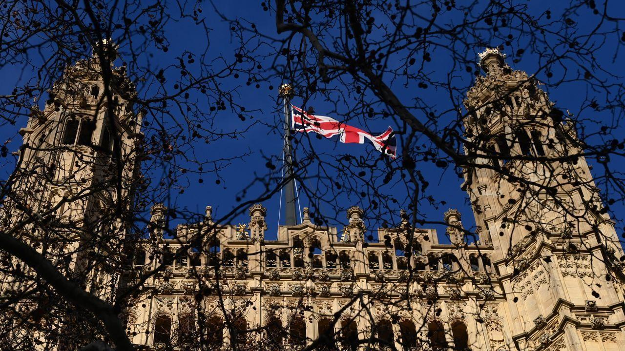 Vista del Parlamento británico durante el debate de la Cámara de los Comunes en el que se aprobó el acuerdo definitivo sobre el «brexit»