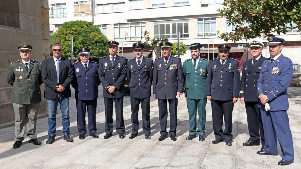 Celebración de la patrona en la  Policia Nacional de Ribeira
