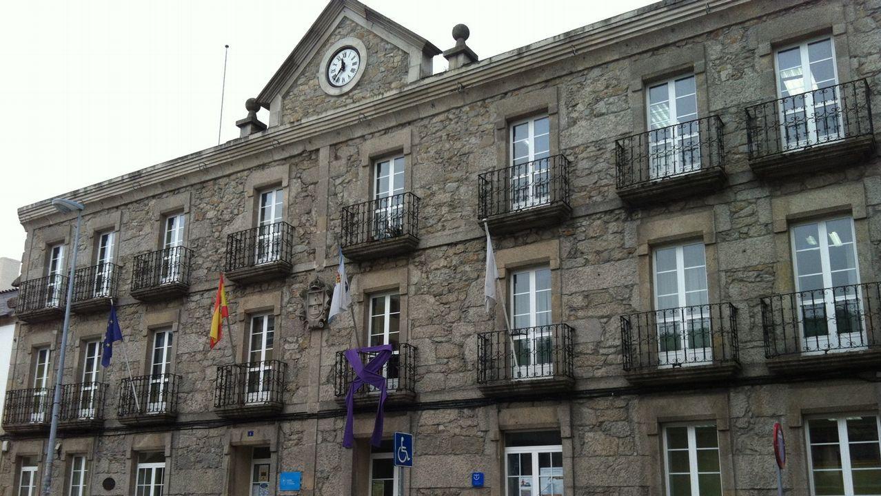 Parque de aventuras de San Roque, en Viveiro.Primera fiesta del barrio de A Tinería