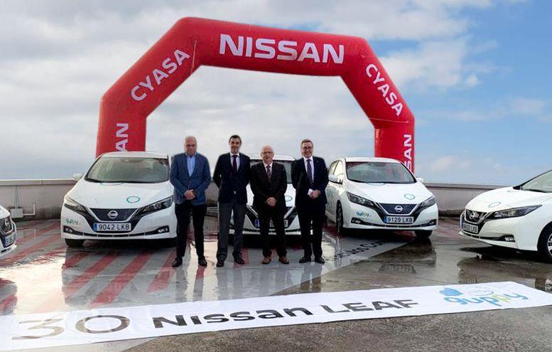 Cyasa entrega de los 30 modelos LEAF 100% eléctricos a la empresa Guppy