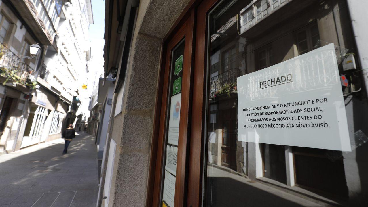 Hostelería y comercio están cerrados por el coronavirus desde el 14 de marzo en Viveiro, igual que en el resto de Galicia