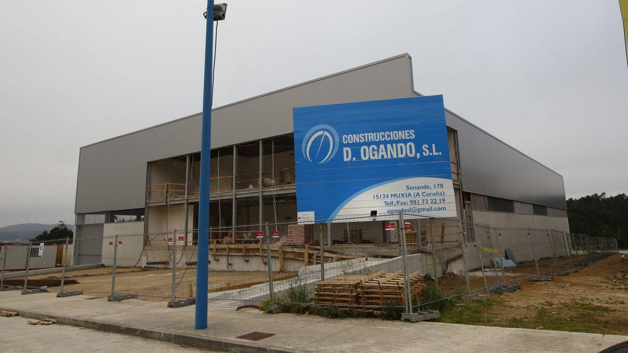 Proceso de construcción de la primera nave de Gerca el pasado mes de mayo