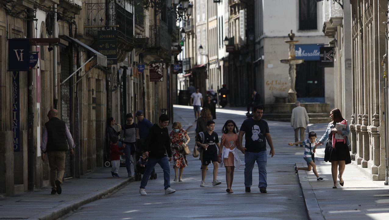 Ambiente en las calles de Ourense