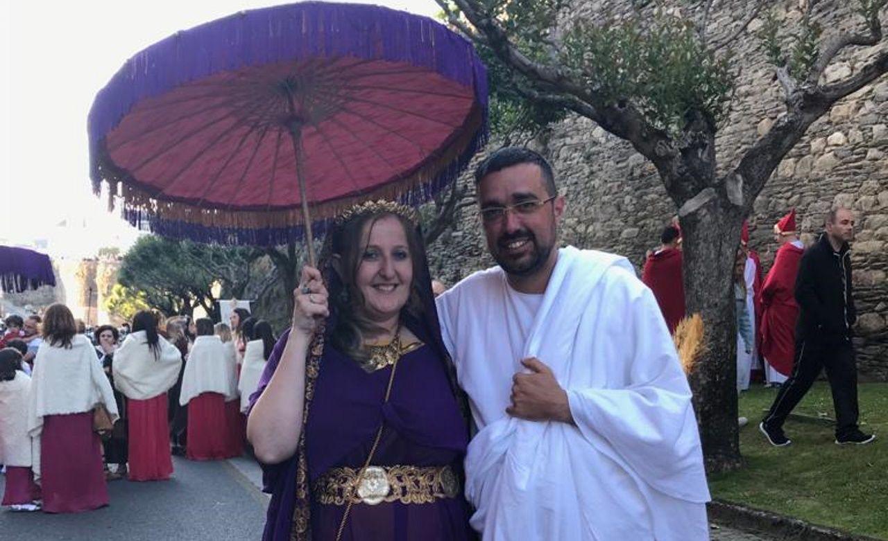 Azucena y Bernardo durante el último Arde Lucus