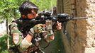 Un militar en Kunduz durante los combates con los talibanes