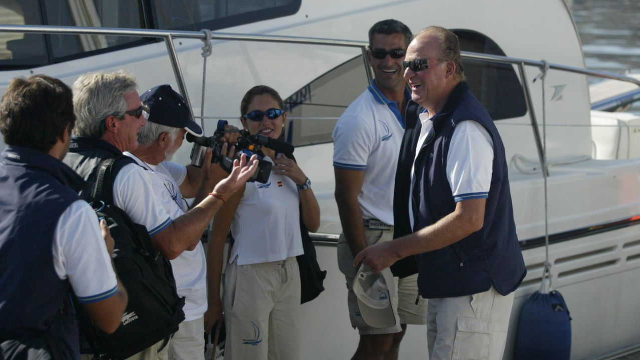 En Baiona, en las regatas, en el año 2003