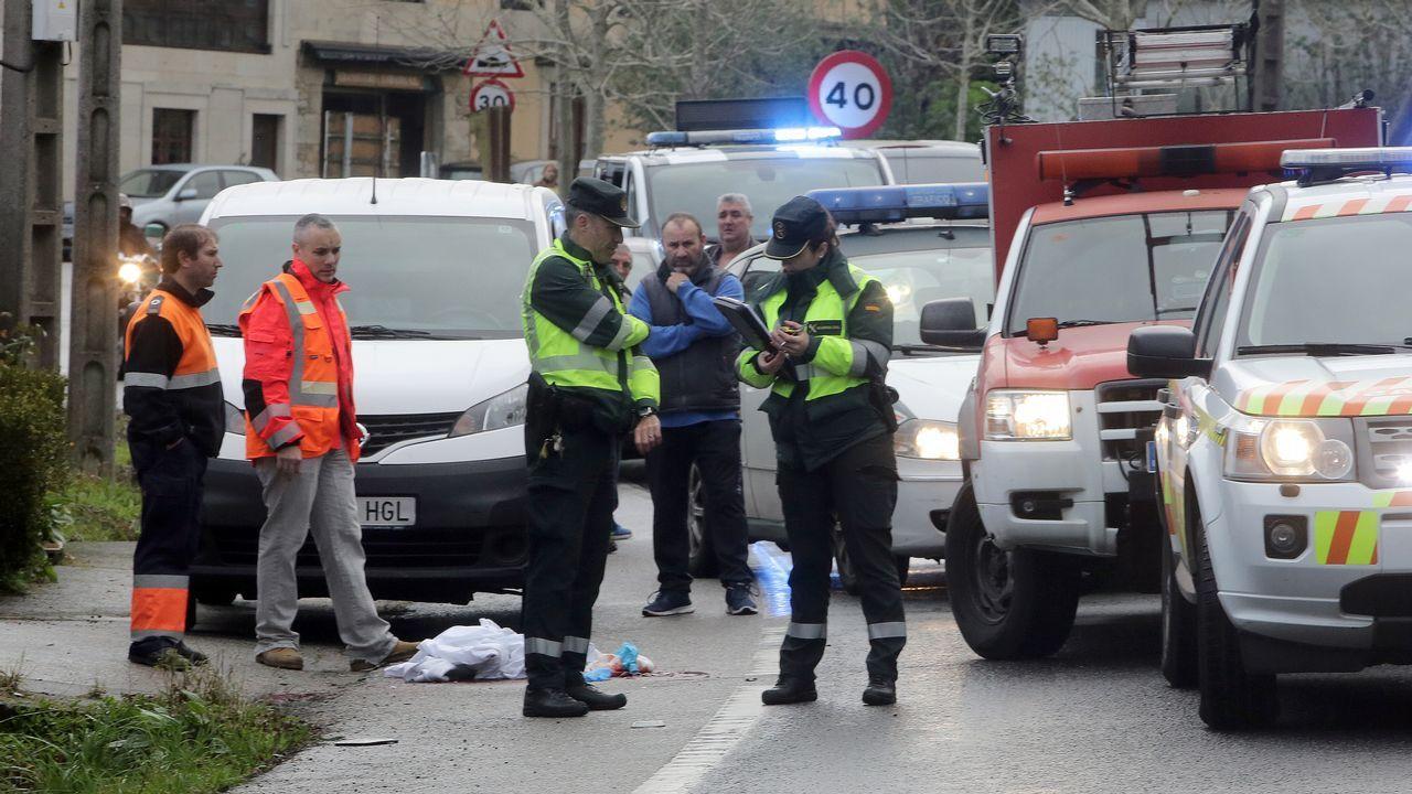 Imagen de un atropello mortal ocurrido en Catoira a principios de enero del 2019