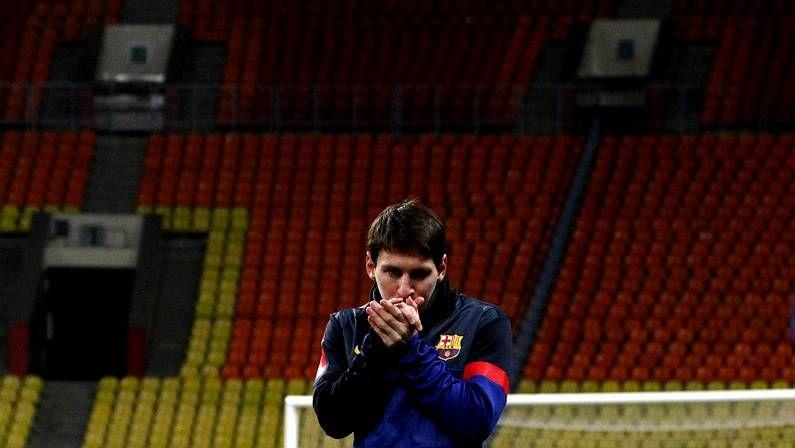 Messi en el estadio del Spartak
