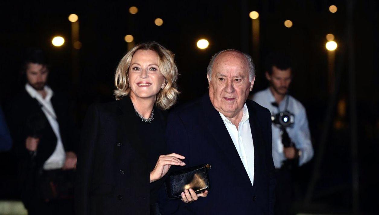 Amancio Ortega y su mujer, Flora Pérez Marcote