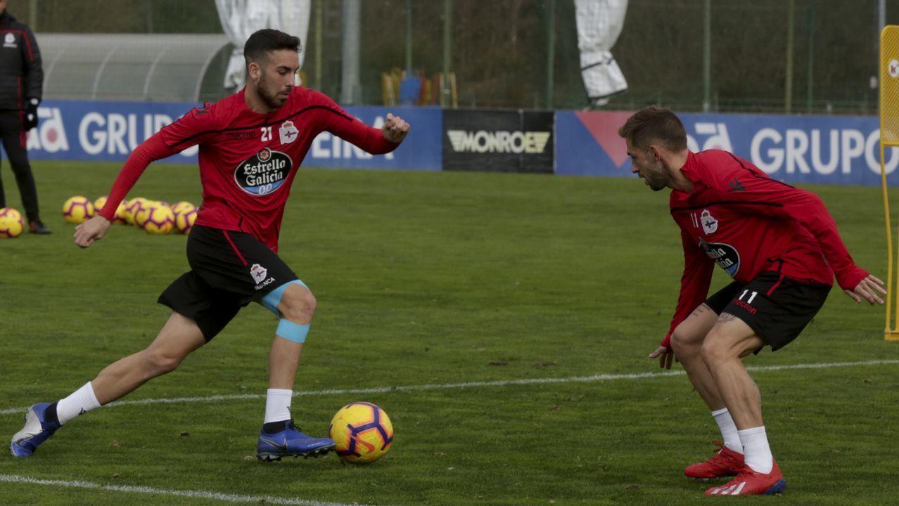 Lo mejor del Granada - Deportivo, en imágenes.Edu Expósito se mantendrá en el mediocampo deportivista