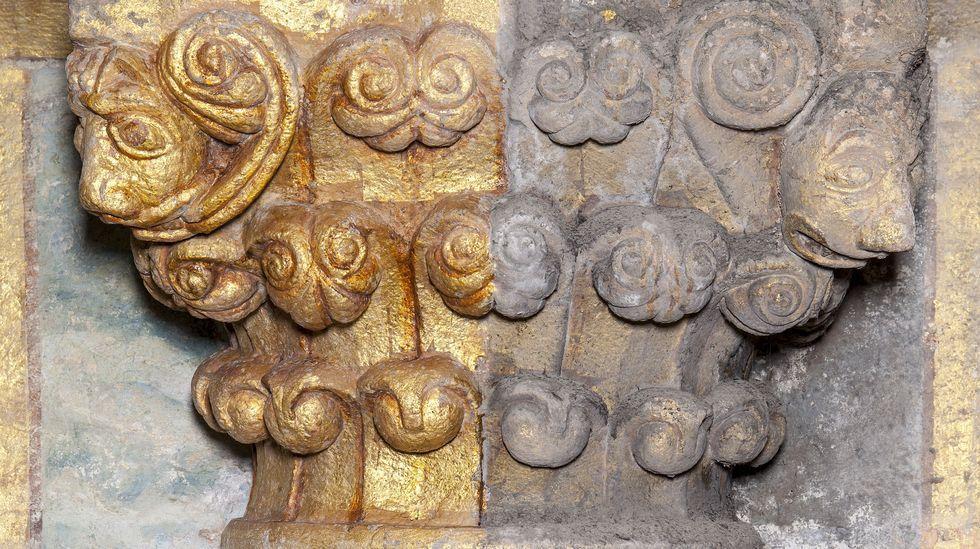 El ejemplo de lo que ha supuesto la restauración, explicado en una imagen. A la derecha, antes; a la izquierda, después