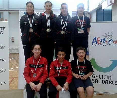 La cantera estradense arrasó en el Campeonato Gallego Sub 9 y Sub 15 celebrado el domingo.