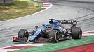 Alonso, en acción durante el Gran Premio de Austria