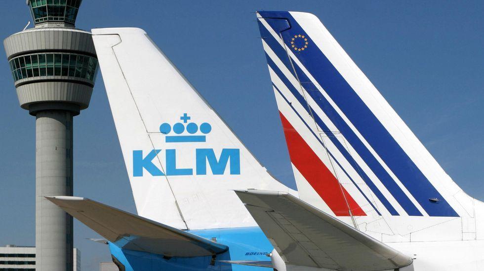 Cola de un avión de la compañía de los Países Bajos KLM, la más segura de Europa.
