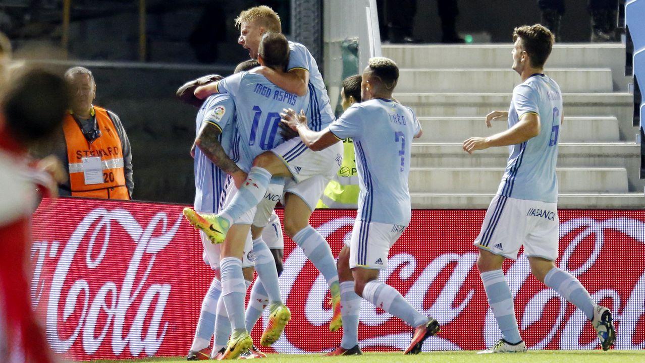 Celta-Sporting (2-1) el 21 de septiembre del 2016