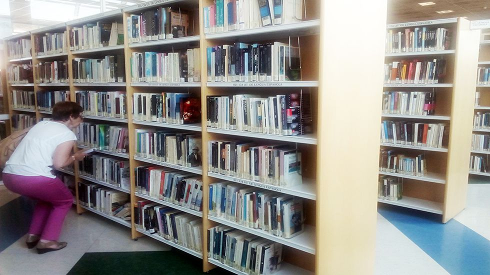 Mario Casas y Berta Vázquez, ¿ruptura a la vista?.Una usuaria de la biblioteca Bances Candamo buscando un ejemplar.