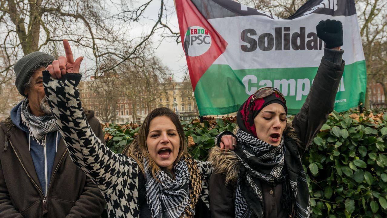 Protestas por el encarcelamiento de la joven palestina Ahed Tamimi