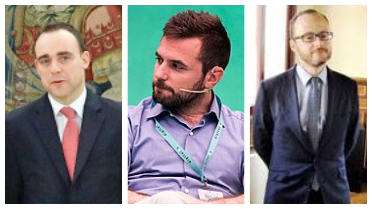 Ángel Alonso, Diego Rubio y Diego Martínez