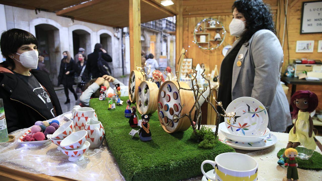Los Reyes Magos repartieron ilusión por toda la provincia.El Mercado de Nadal de San Marcos es una de las alternativas para estos días
