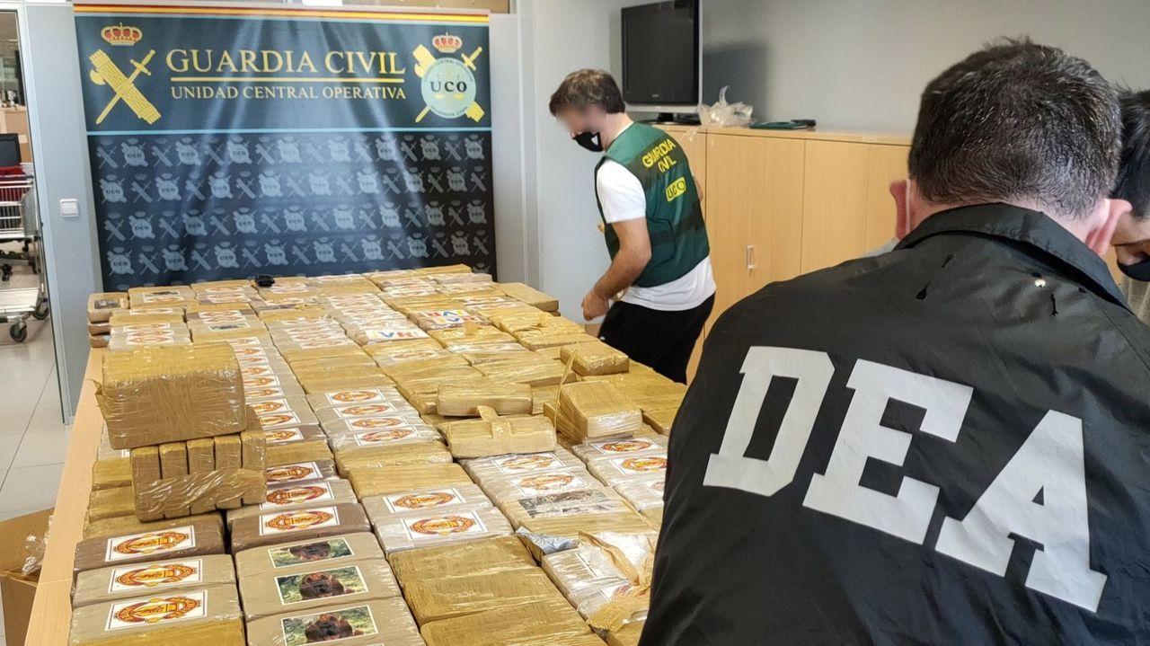 Operativo de la DEA el pasado octubre que llevó al decomiso de media tonelada de cocaína