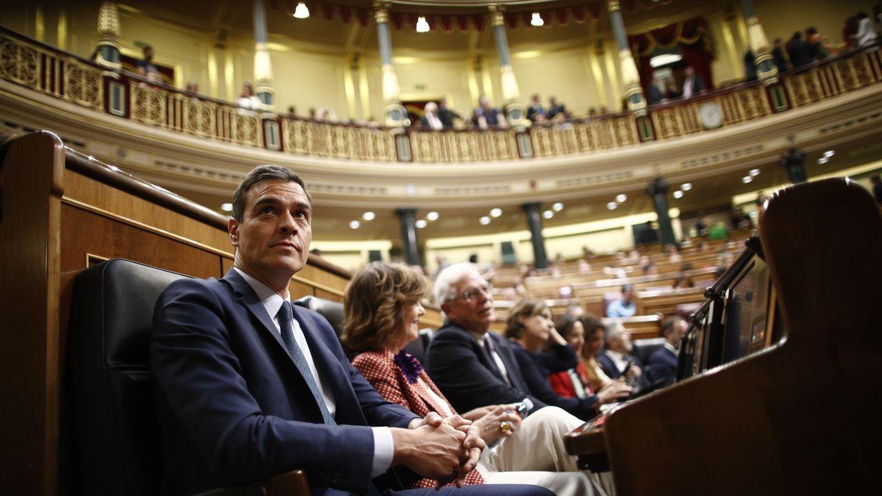 Pedro Sánchez, durante la última sesión de control en el Congreso