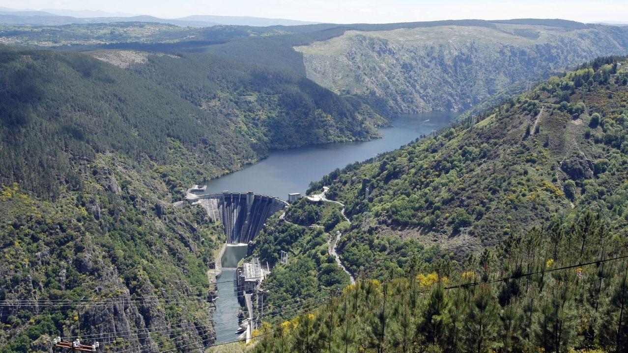 Central hidroeléctrica de Santo Estevo, en el Sil, de Iberdrola