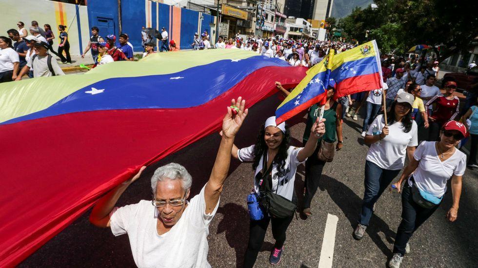Sexo, drogas y violencia, ¿quiénes son los Ángeles del Infierno?.Manifestación organizada por la oposición en Caracas